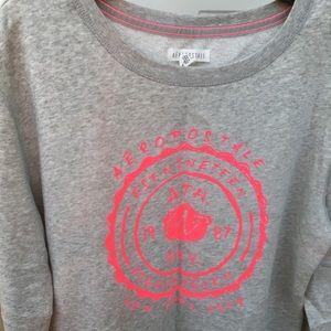 Gray/ Pink Long Sleeve Aeropostale Sweater